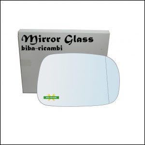 Vetro Specchio Retrovisore Cromato Asferico Lato Dx-Passeggero Per Suzuki Ignis II (MH) solo dal 2003-2008