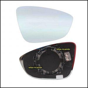 Piastra Specchio Retrovisore Termico Lato Dx-Passeggero Per Volkswagen Beetle Maggiolino dal 2011>