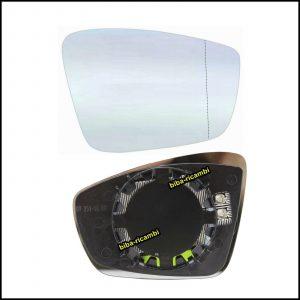 Piastra Specchio Retrovisore Termico Asferico Lato Dx-Passeggero Per Seat Mii (KF1) dal 2011>