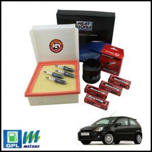 Kit Tagliando Filtri | Candele Per Ford Fiesta V 1.300 LPG 44kw/60cv dal 2001>