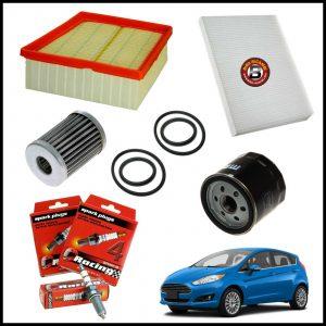 Kit Tagliando Filtri | Candele Per Ford Fiesta VI 1.400 GPL 71kw/97cv dal 2009>