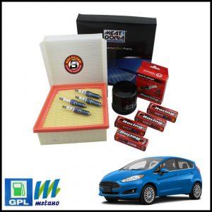 Kit Tagliando Filtri | Candele Per Ford Fiesta VI 1.200 LPG 44kw/60cv dal 2008>