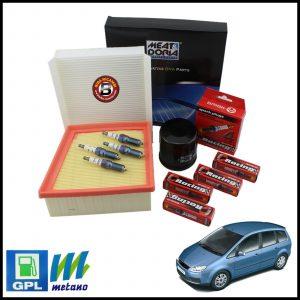 Kit Tagliando Filtri | Candele Per Ford Focus C-MAX 1.600 GPL 74kw/100cv dal 2003>