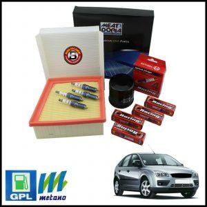 Kit Tagliando Filtri | Candele Per Ford Focus II 1.400 LPG 59kw/80cv dal 2004>