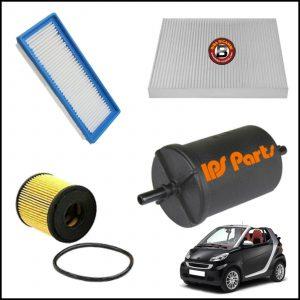 Kit Tagliando Filtri Per Smart ForTwo Cabrio (451) 0.800 CDI 33kw/45cv dal 2007>