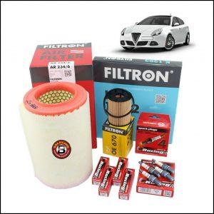 Kit Tagliando Filtri | Candele Per Alfa Romeo Giulietta 1.400 TB 77kw/105cv dal 2011>
