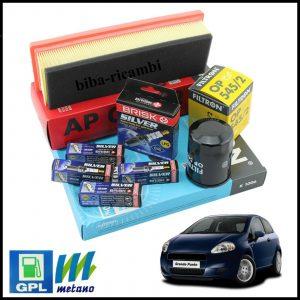 Kit Tagliando Filtri | Candele Per Fiat Grande Punto 1.400 GPL 55kw/75cv dal 2005>