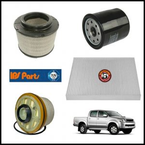 Kit Tagliando Filtri Per Toyota Hilux Pick-Up 2.500 D-4D 88kw/120cv dal 2007>
