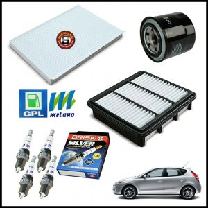 Kit Tagliando Filtri | Candele Per Hyundai i30 2.000 105kw/143cv dal 2007>