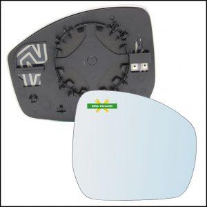 Specchio Piastra Retrovisore Blind Spot Lato Dx-Passeggero Per Jaguar E-PACE (X540) dal 2017>