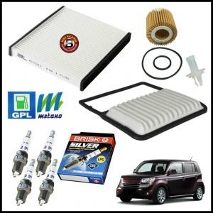 Kit Tagliando Filtri | Candele Per Daihatsu Materia 1.500 76kw/103cv dal 2006>