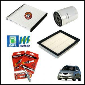 Kit Tagliando Filtri | Candele Per Mazda 2 1.400 59kw/80cv dal 2003>