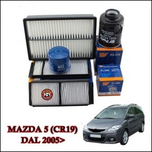 Kit Tagliando Filtri Per Mazda 5 2.000 CD 105kw/140cv dal 2005>