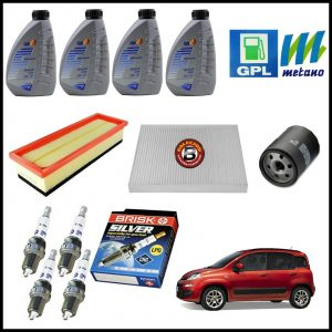 Kit Tagliando Olio | Filtri | Candele Per Fiat Panda (312) 1.200 GPL 51kw/69cv dal 2012>
