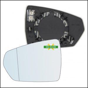 Piastra Specchio Retrovisore Asferico Termico Lato Sx-Guidatore Per Audi A1 II Sportback (GBA) dal 2018>