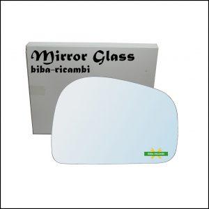 Vetro Specchio Retrovisore Cromato Lato Dx-Passeggero Per Tata Safari (42_FD) dal 1998>