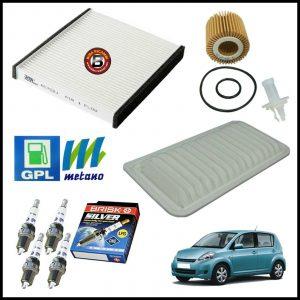 Kit Tagliando Filtri | Candele Per Daihatsu Sirion 1.500 76kw/103cv dal 2005>