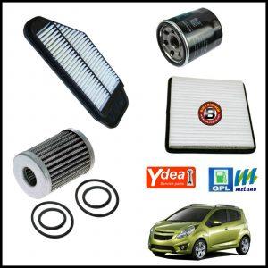 Kit Tagliando Filtri Per Chevrolet Spark 1.000 GPL 50kw/68cv dal 2010>