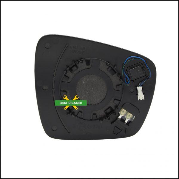 Piastra Specchio Retrovisore Con Blind Spot Lato Sx-Guidatore Per Renault Espace V (JR) dal 2015>