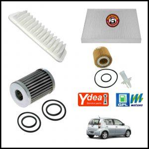 Kit Tagliando Filtri Per Subaru Justy IV 1.000 GPL Bi-Fuel 51kw/69cv dal 2007>