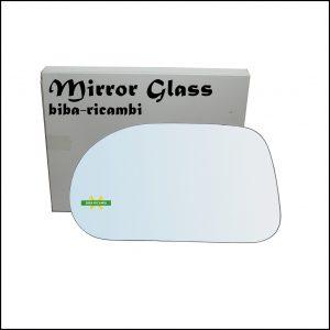 Vetro Specchio Retrovisore Cromato Lato Sx-Guidatore Per Fiat Marea (185) solo dal 1996-2002