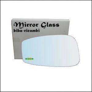 Vetro Specchio Retrovisore Cromato Lato Sx-Guidatore Per Fiat Stilo (192) dal 2001-2009
