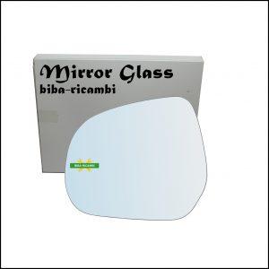 Vetro Specchio Retrovisore Cromato Lato Sx-Guidatore Per Suzuki Splash (EX) dal 2008>