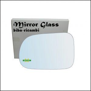 Vetro Specchio Retrovisore Cromato Lato Sx-Guidatore Per Suzuki Swift II (EA) solo dal 2003-2005