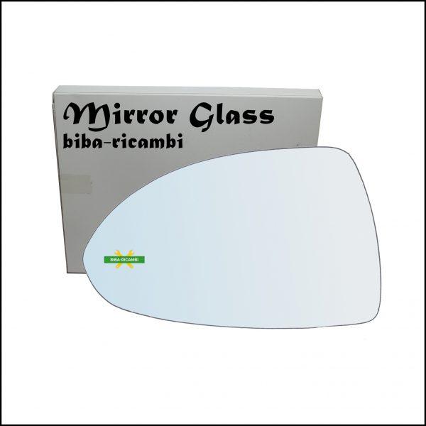 Vetro Specchio Retrovisore Cromato Lato Sx-Guidatore Per Opel Corsa E (X15) dal 2014>