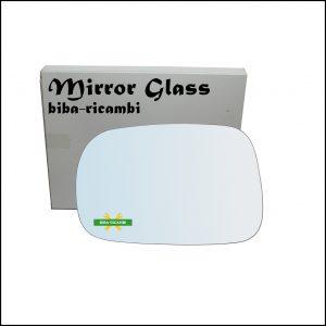 Vetro Specchio Retrovisore Cromato Lato Sx-Guidatore Per Suzuki Ignis II (MH) solo dal 2003-2008