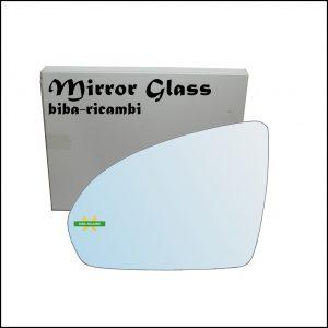 Vetro Specchio Retrovisore Cromato Lato Sx-Guidatore Per Smart ForTwo II (451) dal 2007>
