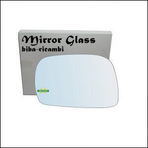 Vetro Specchio Retrovisore Lato Sx-Guidatore Per Suzuki Ignis I (FH) dal 2000-2005