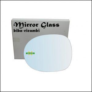 Vetro Specchio Retrovisore Cromato Lato Sx-Guidatore Per Honda Civic VIII (FN,FK) dal 2005-2011