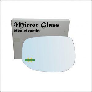 Vetro Specchio Retrovisore Cromato Lato Sx-Guidatore Per Honda Insight II (ZE) dal 2009>