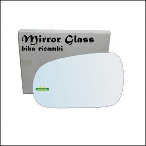 Vetro Specchio Retrovisore Cromato Lato Sx-Guidatore Per Honda Accord V dal 1990-1997