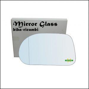 Vetro Specchio Retrovisore Cromato Asferico Lato Sx-Guidatore Per Fiat Marea (185) solo dal 1996-2002