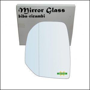 Vetro Specchietto Retrovisore Asferico Lato Sx-Guidatore Per Citroen Berlingo II solo dal 2008-2012