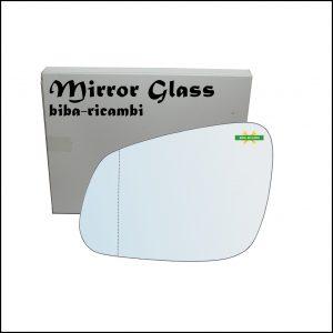 Vetro Specchio Asferico Retrovisore Lato Sx-Guidatore Per Chevrolet Spark (M400) dal 2015>