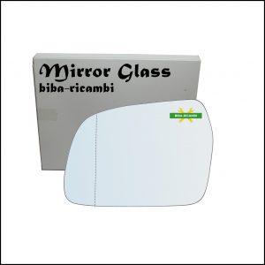 Vetro Specchio Retrovisore Asferico Lato Sx-Guidatore Per Suzuki Vitara I (TA) solo dal 1994-1998