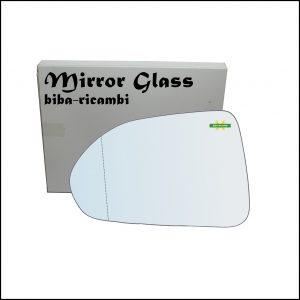 Vetro Specchio Retrovisore Asferico Lato Sx-Guidatore Per Honda Jazz II (GD) solo dal 2004-2005