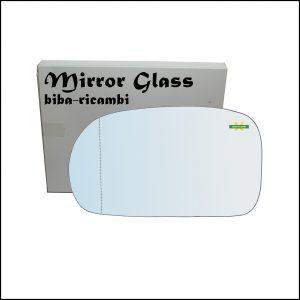 Vetro Specchio Retrovisore Cromato Asferico Lato Sx-Guidatore Per Suzuki Baleno (EG) dal 1995-2009