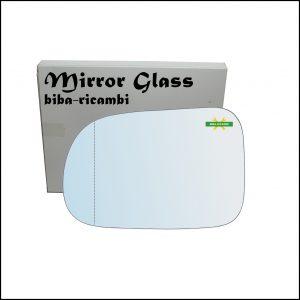 Vetro Specchio Retrovisore Cromato Asferico Lato Sx-Guidatore Per Suzuki Swift II (EA) solo dal 2003-2005