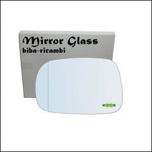 Vetro Specchio Retrovisore Cromato Asferico Lato Sx-Guidatore Per Suzuki Ignis II (MH) solo dal 2003-2008