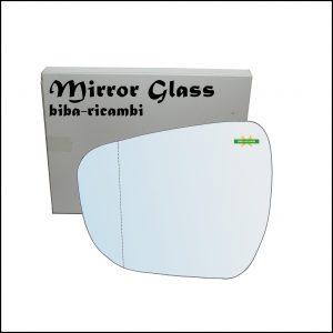 Vetro Specchio Retrovisore Asferico Lato Sx-Guidatore Per Suzuki Celerio (LF) dal 2014>