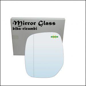 Vetro Specchio Retrovisore Asferico Lato Sx-Guidatore Per Citroen Berlingo I (M) dal 1996-2011