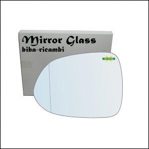 Vetro Specchio Retrovisore Asferico Lato Sx-Guidatore Per Honda Jazz II (GD) solo dal 2001-2004