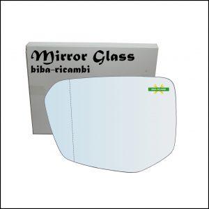 Vetro Specchio Retrovisore Asferico Lato Sx-Guidatore Per Honda Civic X (FC,FK) dal 2016>