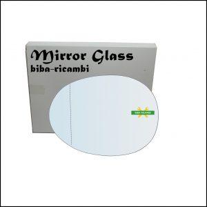 Vetro Specchio Retrovisore Asferico Lato Sx-Guidatore Per Citroen C1 I (PM) dal 2005-2014