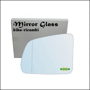 Vetro Specchio Retrovisore Cromato Asferico Lato Sx-Guidatore Per Suzuki Vitara I (TA) solo dal 1988-1993