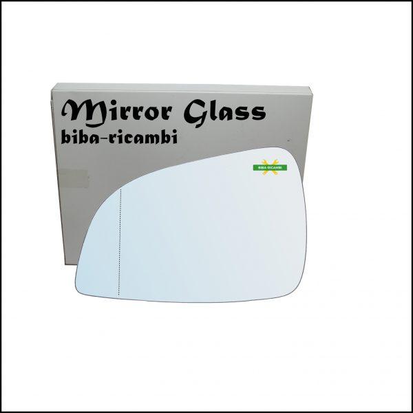 Vetro Specchio Retrovisore Cromato Asferico Lato Sx-Guidatore Per Opel Astra H (A04) solo dal 2009-2011 (specchio grande)